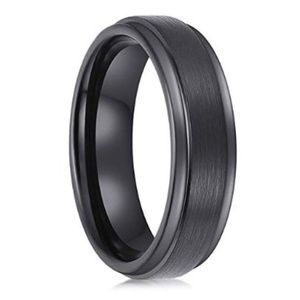 Other - NEW mens black wedding band
